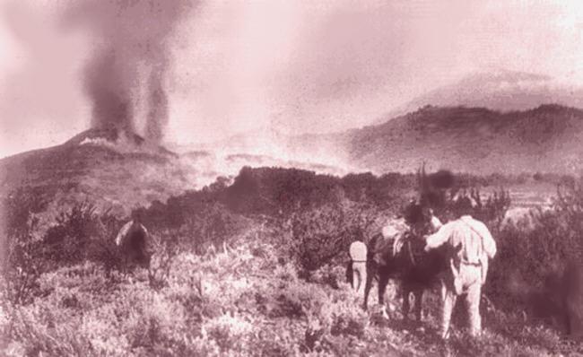 Tras las coladas del Chinyero. 110 años desde su erupción. chinyero